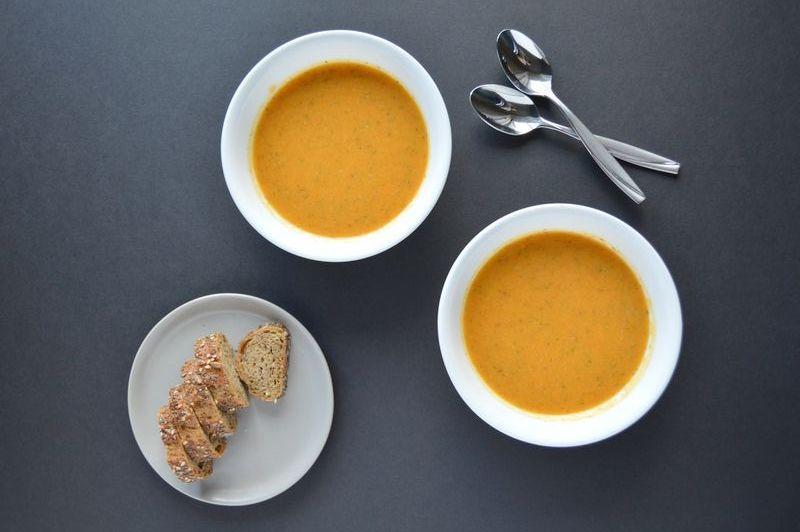 Морковный суп с чечевицей